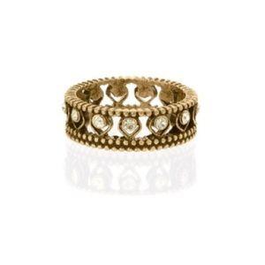 Chloe + Isabel Golden Lotus Crystal Ring